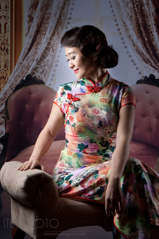 Portrait , Studio Photo, Qipao, Cheongsam, SteveWeddingPhoto__MG_4613