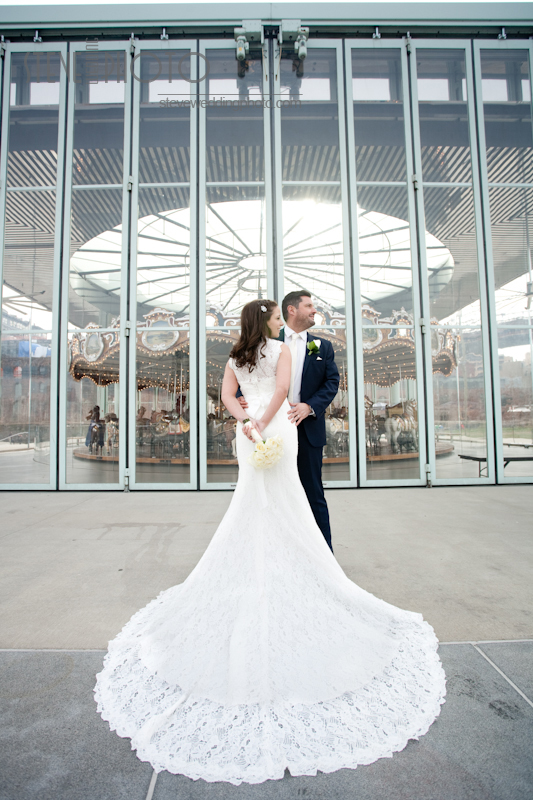 New York City Elopement, Dumbo Brooklyn, Brooklyn Bridge Park, Brooklyn Bridge Park Carousel, Wedding Photo