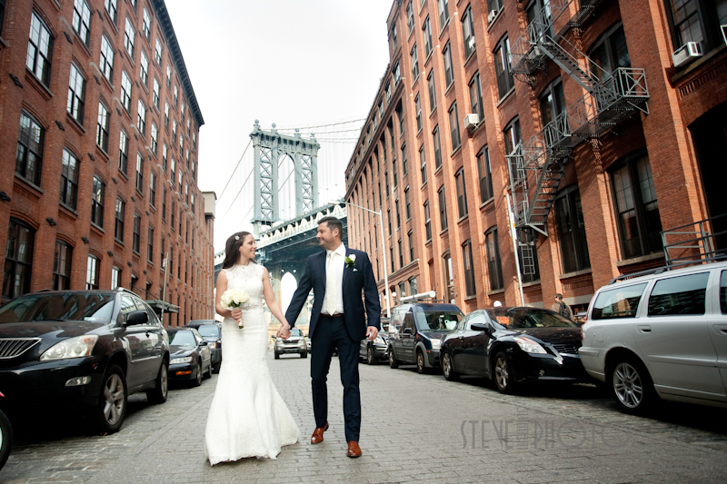 New York City Elopement, Dumbo Brooklyn, Brooklyn Bridge Park, Wedding Photo