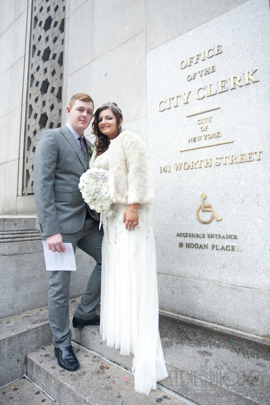 New York City Elopement, City Clerk's Office, Wedding Photo