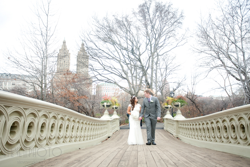 New York City Elopement, Central Park, Central Park Bow Bridge, Wedding Photo